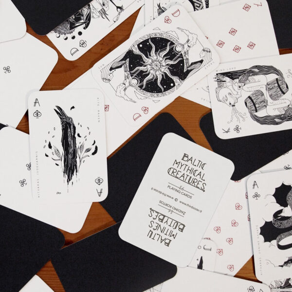 baltic mythical creatures - playing cards