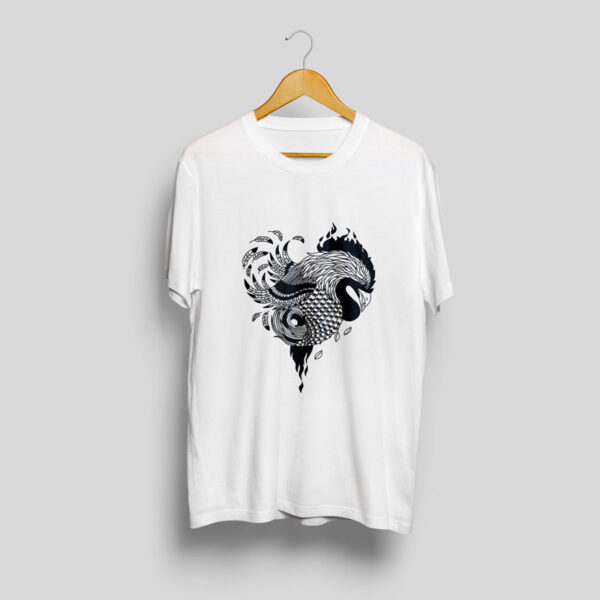 baltic mythical creatures - rooster / gaidys t-shirt