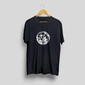 full moon black t-shirt