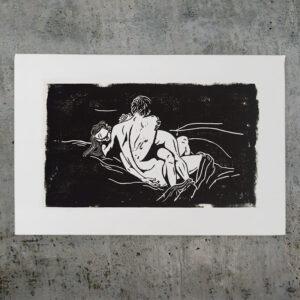 love - linocut artwork