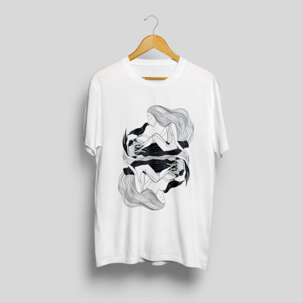 baltic mythical creatures - pixie / laumė t-shirt